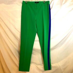 Nissa NWOT Green Pant w/blue Tuxedo Stripe Size 10